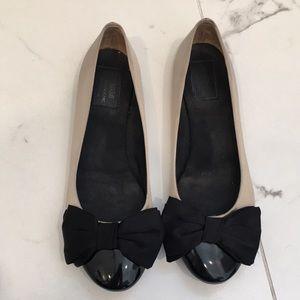 Moschino Cheap & Chic Satin Bow Flats Size 36.5